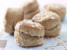 Rezept: Haferflocken-Scones - mit magerem Hackleisch, Karotten, Paprika oder Apfelstückchen im Teig