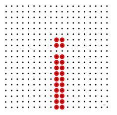 Kralenplank - letter i