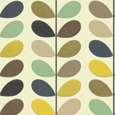 More Orla Kiely sea green multi-stem harlequin wallpaper -color palette for nursery