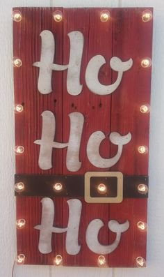 Hey, I found this really awesome Etsy listing at https://www.etsy.com/listing/206209230/ho-ho-ho-santas-belt-wood-plank