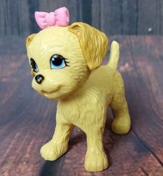 Barbie Potty Training Puppy Dog Pup Girl Female Pet Animal Toy Pink Bow