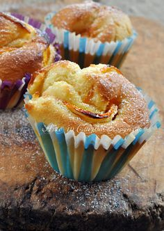 muffins with orange. Italian Pastries, Italian Desserts, Mini Cakes, Cupcake Cakes, Cola Cake, Plum Cake, Best Chocolate Cake, Pound Cake Recipes, Something Sweet
