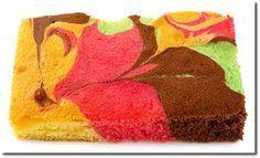 Papageienkuchen vom Blech