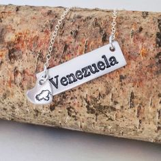This is my Version of a Proud Venezuelan Girl Necklace. It is made by hand and of Sterling Silver. Have it in 2 lengths 16 inch and 18 Inch BUT if you want a different size send me a message and I will custom make it for you!  To buy it please Click here to get the My Handmade at Amazon store link @mgdcasualjewelry PLUS it is a Prime product so it will ship really quick! . . .  #bilingualandlovingit #mgdcasualjewelry #venezuelan #venezuela #venezuelalibre #venezuelaforum #venezuelans…
