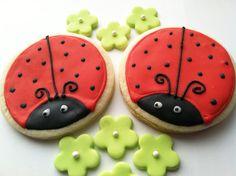 Ladybug+Cookies | Ladybug Sugar Cookies 1 dozen by FunSugarCookie on Etsy