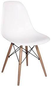 eames stoel wit. Dit zijn de stoeltjes die ik bedoelde, maar volgens mijn zoon passen ze niet bij de rest. Hij vindt ze afschuwelijk.