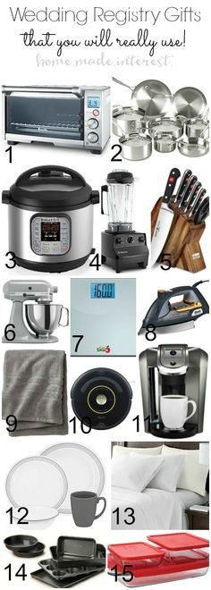 A wedding registry list with ideas and tips for every bride. These wedding registry must haves are wedding gifts that you will use in your home as a new couple. These wedding registry gifts are needed to make a bride and grooms life easier. This checklist of what to put on a wedding registry make the registry process easy.