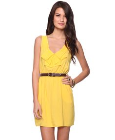 Forever 21: Dainty Ruffle Dress own this dress it's great for a girl with a bust