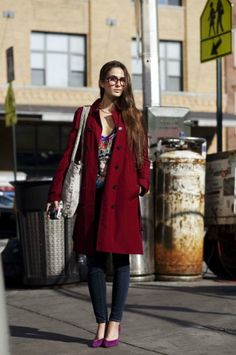 Amanda photographed in New York City by The Sartorialist for Art of the Trench