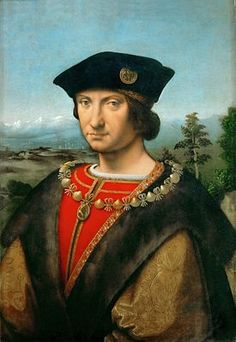 Portrait of Charles d'Amboise ~ ca.1507 ~ oil on canvas ~ Louvre ~ by Andrea Solari (also Solario) (Milan, 1460-1524) ~ Andrea Solari was an Italian Renaissance painter of the Milanese school.