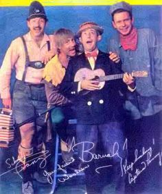 Everything Cleveland // This is a great photo of the hosts from local kids shows in Cleveland.  Franz the Toy Maker, Woodrow the Woodsman, Barnaby and Captain Penny. Woodrow the Woodsman started out on the Barnaby show. Pat Schwab