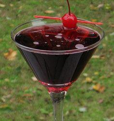 Vampire's Kiss (1 oz. Vodka 1 oz. Chambord (or Raspberry Schnapps) 1 oz. Strawberry Pucker (or Sloe Gin) 3 oz. 7-Up)