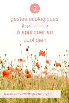 5 gestes écologiques