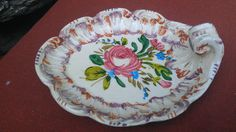 Vintage Small Italy Tray Plate Candy Dish Hand Painted Numbered Flowers Floral $8.19 - ebay