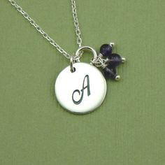 Initial Bead Charm Necklace