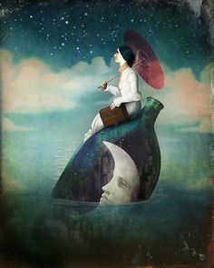 journey around the world by Christian Schloe http://www.redbubble.com/people/christianschloe/works/9741977-journey-around-the-world?c=163982-midnight-sky