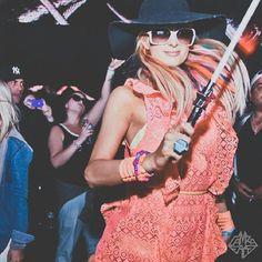 Paris Hilton's Photo: Rainbow Bright does @Coachella ;) #YES!   Lockerz