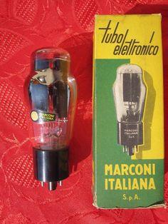 1x tube MARCONI 5U4 G  ~ U52 U 5 2 RECTIFIER YELLOW LABEL BLACK BASE 274B 5 U 4  #MARCONI