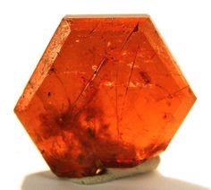 Bastnasite. Sometimes the most unusual stones are the most fun to work with! Use this stone as inspiration for your next piece. Spessartine Garnet comes in a similar colour, is much more durable and easier to get your hands on.  www.gembycarati.com  www.facebook.com/gembycarati