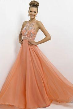 a-line halter long zipper natural waist prom dress
