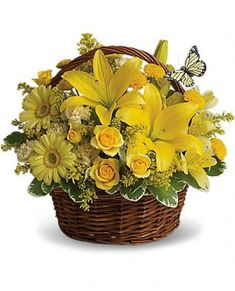 Basket Full of Wishes #kittelbergerflorist