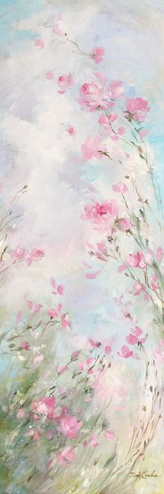 Debi Coules Morning Meadow – print on canvas - Painting Flower Background Wallpaper, Flower Phone Wallpaper, Wallpaper Space, Pink Wallpaper Iphone, Flower Backgrounds, Wallpaper Backgrounds, Canvas Art Prints, Painting Prints, Canvas Canvas