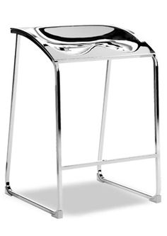 """""""Arod Contemporary Bar Stool""""  A modern design and the choice of materials make it suitable both for domestic and public environments. Glamorous and resistant, it has a steel tube frame and chromed ABS seat or transparent seat.  Please contact us for pricing (718)363-3097."""
