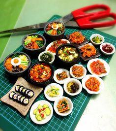 My handmade miniature Korean cuisine