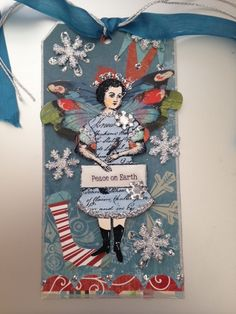 December 2014 Art Tag swap using Character Construction stamps by Catherine Moore