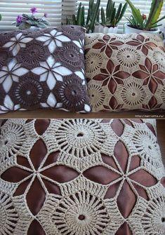 New Woman's Crochet Patterns Part 16 Crochet Pillow Pattern, Crochet Bedspread, Crochet Cushions, Crochet Motif, Crochet Doilies, Crochet Stitches, Hand Crochet, Crochet Flower Tutorial, Crochet Flower Patterns