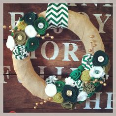 St. Patrick's Day wreath, Irish wreath, green and gold wreath, Spring wreath