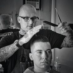 Grooming is in among the outsiders, who take their cues from barbershop classics. Three Los Angeles businesses are leading the way.  http://www.ozy.com/good-sht/a-pomade-for-every-pompadour/31131.article #pomade #losangeles #hairstyle