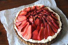 Gluten-free strawberry, pistachio tart. Please click on the photo in Yumgoggle to get to this delicious recipe. Enjoy!