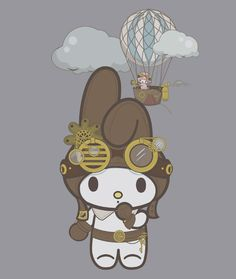 Steampunk Melody t-shirt, via ThinkGeek.  The cuteness...the steampunkiness...I cannot even