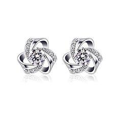 1ee206912 #trending #jewellery #amazon B.Catcher 925 Sterling Silver Round Cut Cubic  Zirconia Stud Earrings Sets | Jewellery | Earrings, Jewelry, Sterling silver  ...