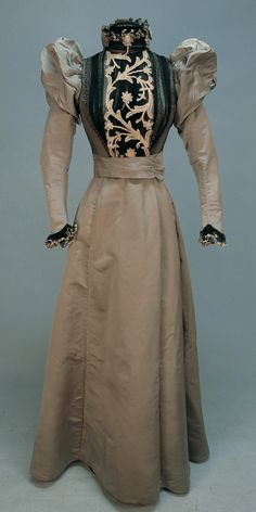 Dress c.1890's Whitaker Auctions. Like something my Great-Grandmother had on. In a photo I have!