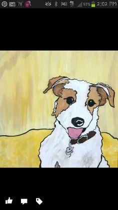 """Sunny"" custom dog painting"