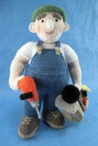 Odd Job Man Knitted Toy