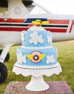 Avião tema festa meninos