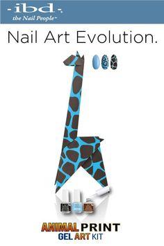 Kit Nail Art Evolution IBD.. ANIMAL PRINT!