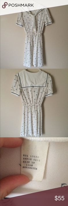1970s Vintage Sailor Dress⚓️ Anchors Away! :) adorable. No try ons. Vintage. Has little loops if you'd like to wear a belt:) Outfit Inspiration: Summer, everyday, dates, halloween, cosplay  Help my fiancé and I save up for our wedding! All purchases are shipped carefully and thoughtfully  Smoke- free home ❗️Bundle to save on SHIPPING & TOTAL  Serious and reasonable offers only (no more  than 10% of listing price!)  ✅Suggested User, shop with confidence NO TRADES ️Sharing is caring Vintage…