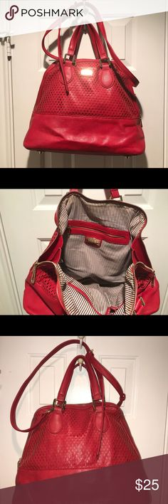 852010e64f8d Nine West Crossbody Red Satchel EUC