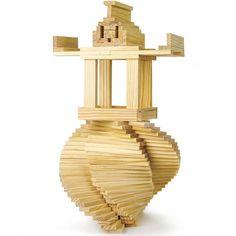 Amazon.com: Constructables! Natural Pine Wood Building Planks, 150pcs. by Imagination Generation: Toys & Games