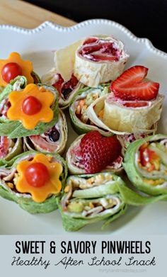 Sweet and Savory Pinwheels - healthy after school snack ideas