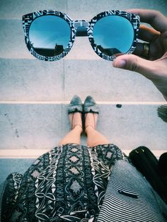 Fashion Coolture: Indie Womens Oversize Native Print Flash Revo Lens Round Sunglasses 9380