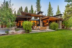 Contingent Home 395 - Martis Camp: Lake Tahoe Luxury Community & Properties - Luxury Houses Mountain Home Exterior, Modern Mountain Home, Mountain House Plans, Dream House Exterior, Mountain Homes, Mountain Biking, Nachhaltiges Design, Modern Rustic Homes, Modern Cabins