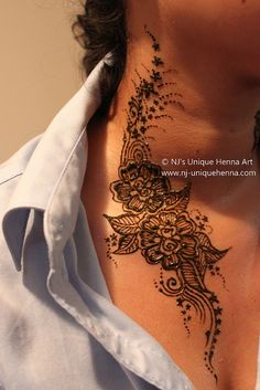 The most beautiful neck tattoo I've ever seen.