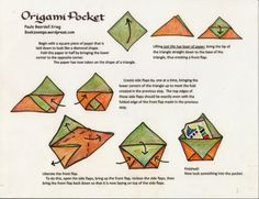origami pocket + other foldables
