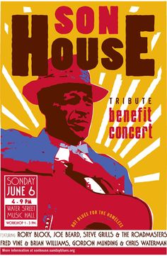 Blues posters | 2010 Hot Blues Poster, Design Jim Malley