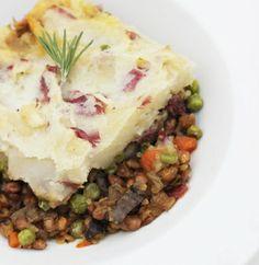 Vegan Shepherds Pie with Lentils* 261cals  38g carbs  5g fat  14g protein 9g fiber  8g sugar